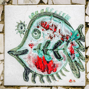 Jose Fuster Fish Tile - Copyright 2017 Steve Leimberg UnSeenImages Com _DSF3296