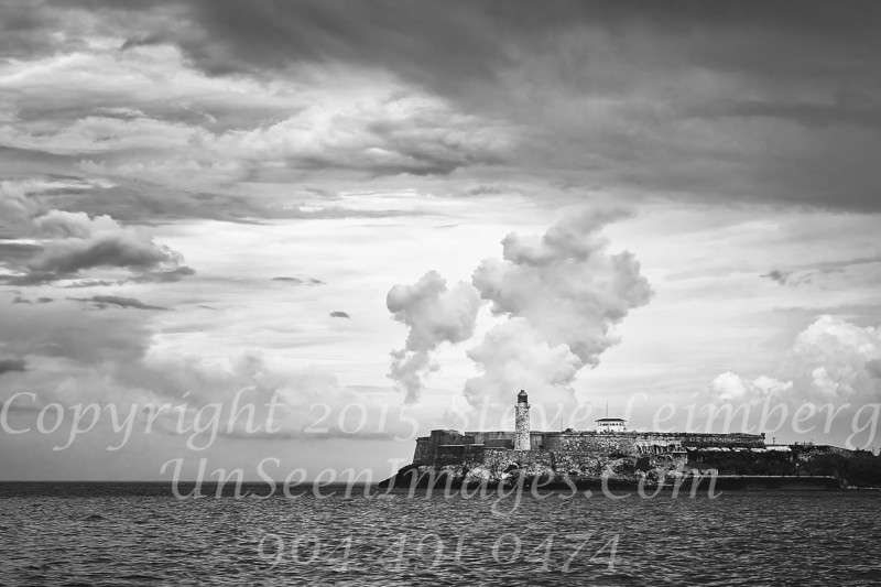 Morro Castle Fortress Havana Harbor Copyright B&W 2017 Steve Leimberg UnSeenImages Com _DSF1647