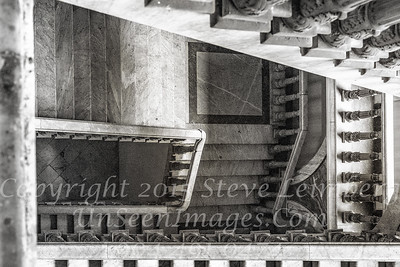 National Ballet Staircase in B&W  Copyright 2018 Steve Leimberg UnSeenImages Com _DSF7472