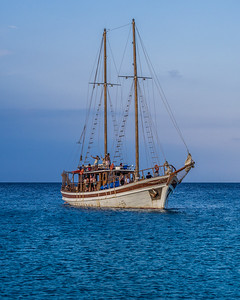 A ship near Protaras