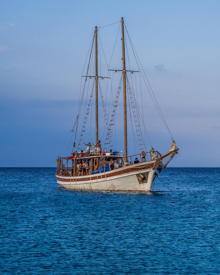 A ship near Protaras