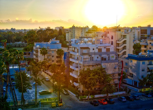 Sunset over Limassol