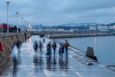 Rainy evening on the East Pier