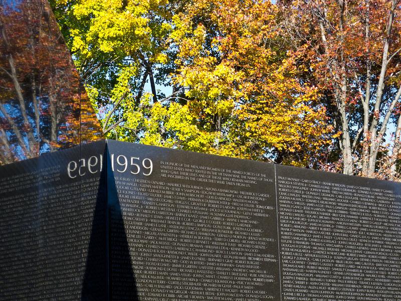 Vietnam Veterans Memorial, November 2011.