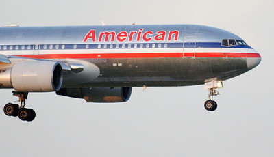 An American 767 on approach.
