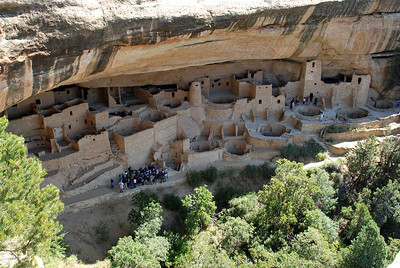 One of the villages of the Anasazi tribes,at Mesa Verde