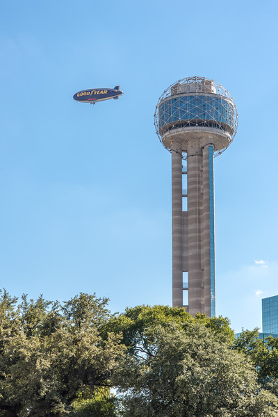 Reunion Tower and Goodyear Blimp