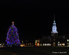 Baker Library and christmas tree at Dartmouth College