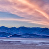 Panamint Range at sunset; Death Valley National Park, California