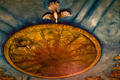 Ceiling mural.  Amargosa Opera House, Death Valley Junction, CA
