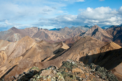 View from Cathedral Mountain, Denali National Park, Alaska