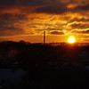 Sunset in Copenhagen after first snowfall
