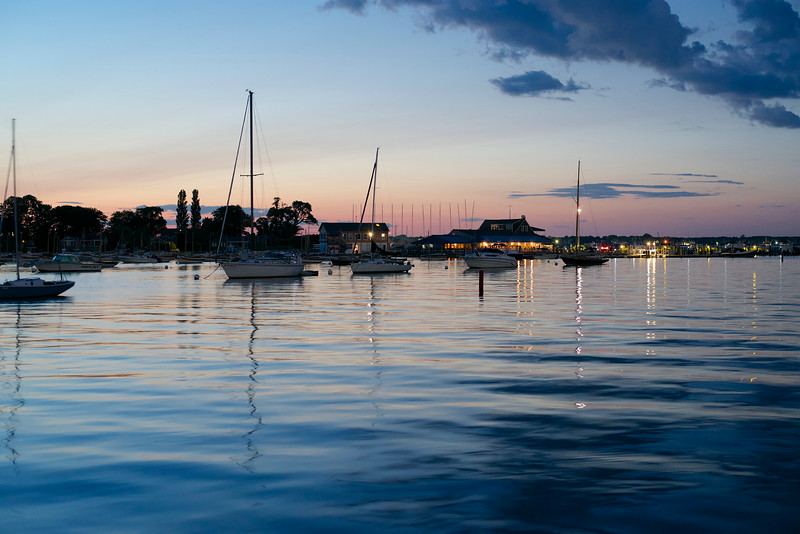 Night over Dering Harbor