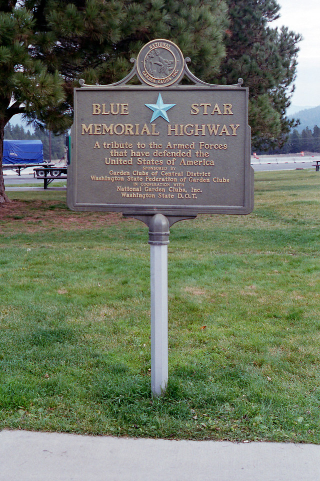 Blue Star Memorial Hoghway Sign