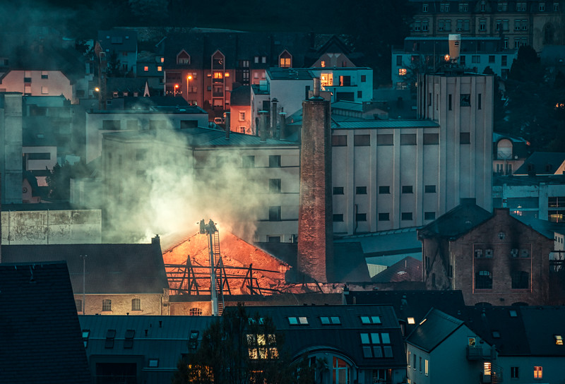 The Diekirch brewery is on fire