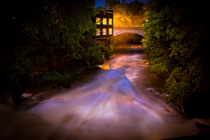 Garrett's Mill by Lamplight