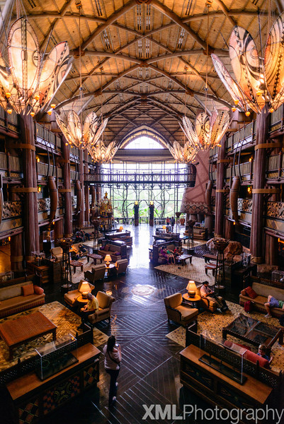 Photos from the lobby of Disney's Animal Kingdom Lodge Jambo House