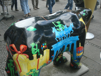 Berlin painted bear