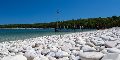 Schoolhouse Beach -- One of half dozen natural white limestone beaches in the world.