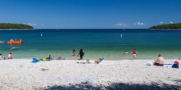 Schoolhouse Beach -- One of half dozen natural white limestone beaches in the world.