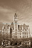 The Landmark Center with an antique greyscale treatment.