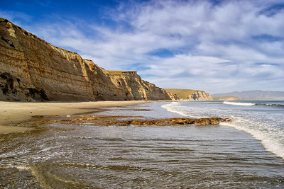 Golden Sea cliffs. Drakes Beach, California Coast. ref: 518bd864-1db1-4b12-8f2b-539fa34d8c98