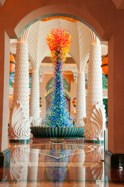 March 4th - The centre piece in the lobby of The Atlantis Hotel on Palm Jumeirah.  Made from glass.