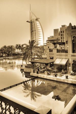 Burj al Arab in sepia
