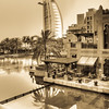 Burj al Arab in sepia