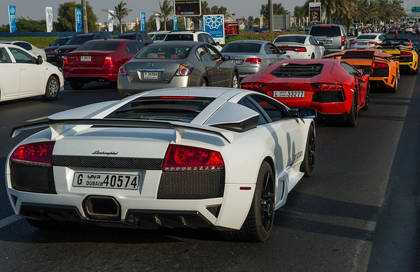 Dubai-stlye traffic jam