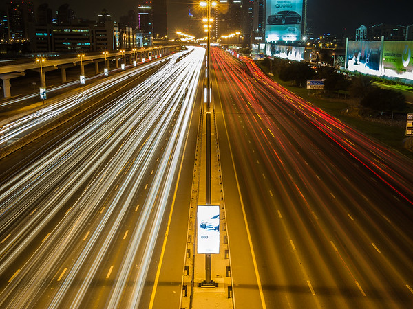 Sheikh Zayed Road, Dubai.  Photo by: Stephen Hindley ©
