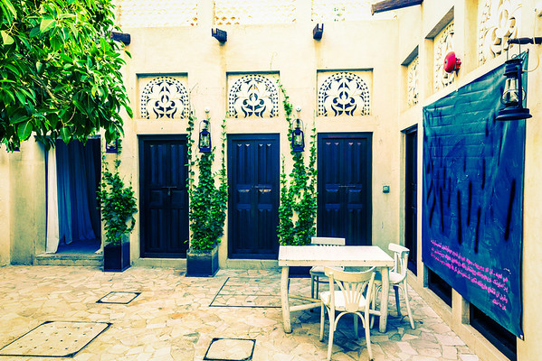 Private Courtyard at XVA Hotel, Dubai, UAE
