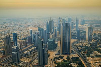 View form the world's tallest building -  Burj Khalifa, Dubai, UAE