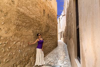 On the streets of  Heritage Village of Dubai, UAE