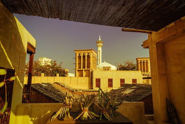 5 o'clock alarm clock - view from XVA Hotel, Dubai, UAE