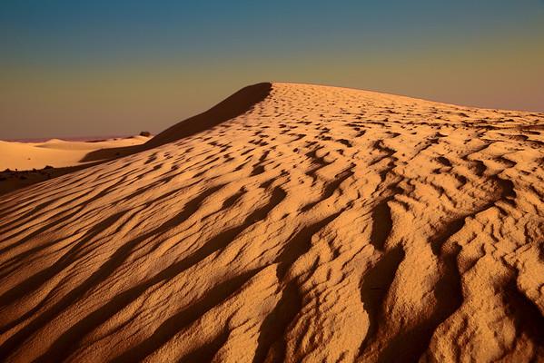 Desert dunes outside of Dubai, UAE