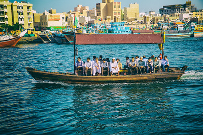 Water Bus - Taking locals and tourists up and down Dubai Creek for about $0.25. Probably the cheapest thing in Dubai.