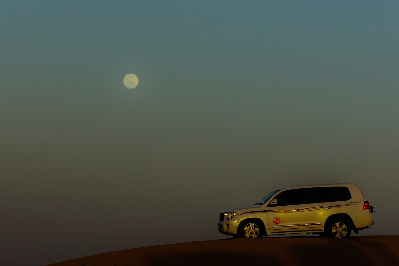 Car and moon