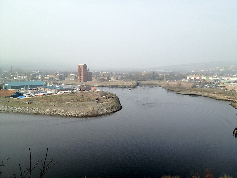 Dumbarton harbour.<br /> 24th March 2012