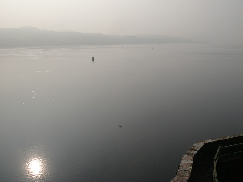 View down the Clyde from Dumbarton Rock.<br /> 24th March 2012.
