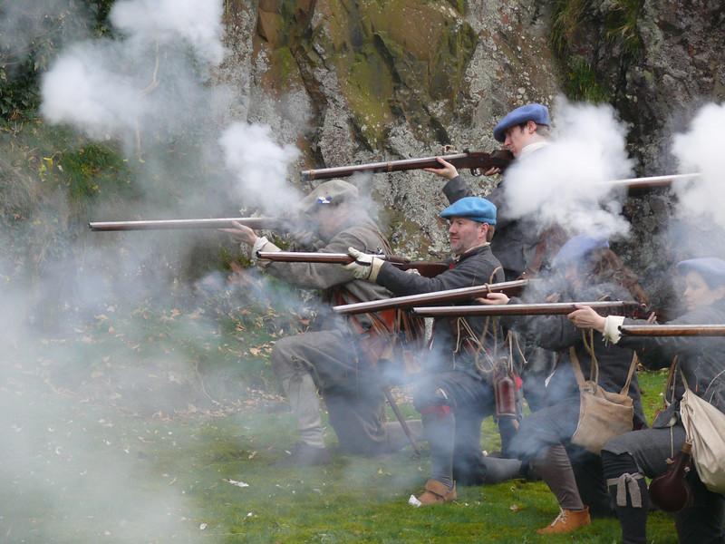 Historical reenactment, Dumbarton Rock.<br /> 24th March 2012