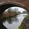 Frozen Bridgewater canal at  Dunham.