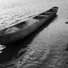 Canoa ao entardecer, em Buba.