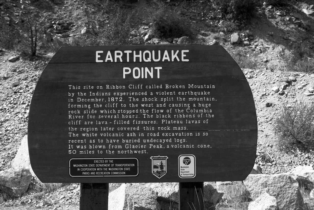 Earthquake Point Sign