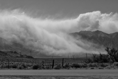 Storm brews along Hwy 395
