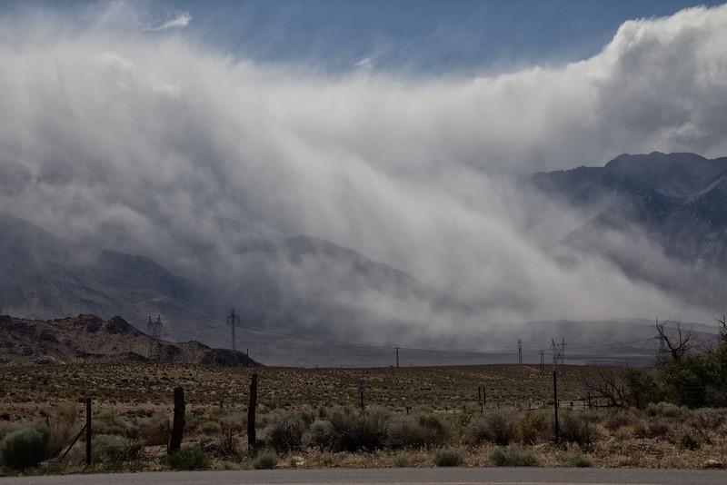 Storm brews along Hwy 395