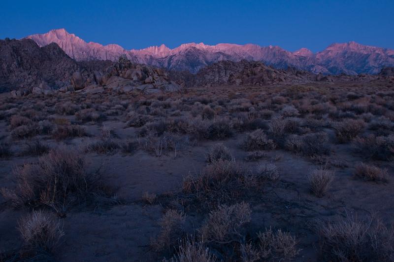 First Light<br /> Mt. Whitney, Eastern Sierras, California<br /> 2009