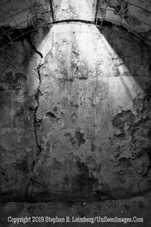 Light from Above Cell Eastern State Penitentiary B&W  20131018_4374