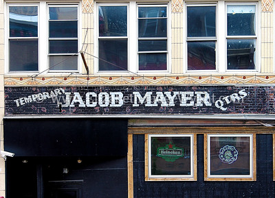Meyer building old sign revealed