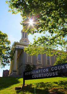 "Northampton County Courthouse Northampton County was founded on March 6, 1752. The first court proceedings were held in taverns. The first court house was built in 1765 in Centre Square, then known as ""the Great Square."" The current courthouse, located on Seventh and Walnut Streets, was designed by Architect G. Graham, Esquire and was built in 1861.  Easton, PA 5/10/2013"